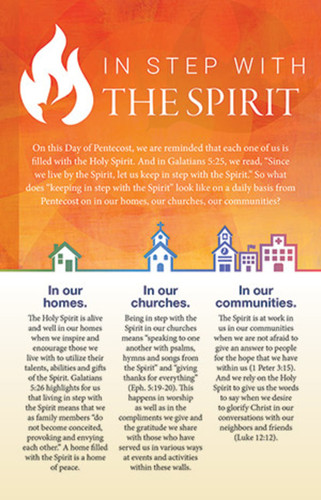 Pentecost Bulletin Insert (Insert): In Step with the Spirit - Pack of 50