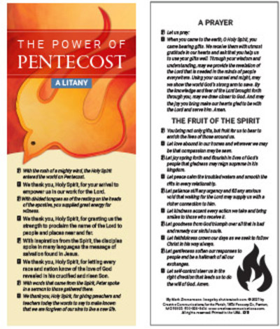 Power of Pentecost Litany (Cards): Pack of 50