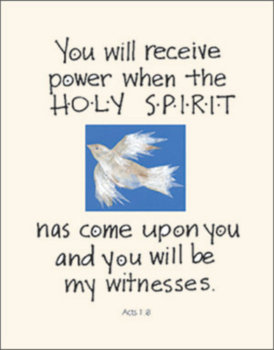 [12 Years of Baptismal Anniversary Cards] Baptismal Anniversary Cards (Cards): Year 10 - You Will Receive Power