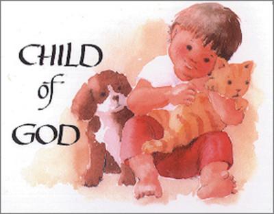 [12 Years of Baptismal Anniversary Cards] Baptismal Anniversary Cards (Cards): Year 1 - Child of God