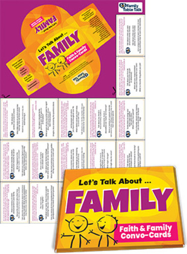 [Faith & Family Conversation Cards] Let's Talk About FAMILY Conversation Cards (Card Set)
