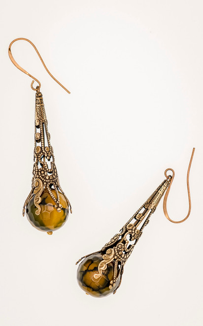 Faceted Banded Agate earrings