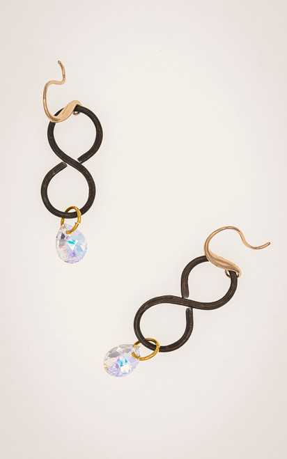 Classic infinity earrings with a twist