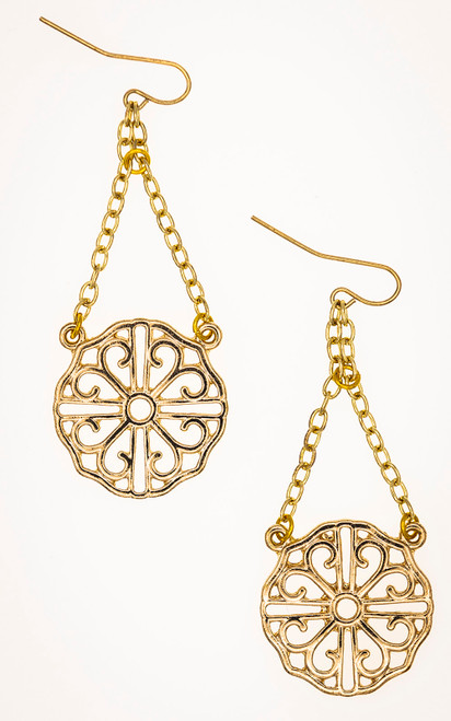 Gold medallions in gothic style