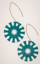 Steampunk gear earrings in a variety of colors