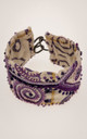 Embroidered bracelet in shades of purple