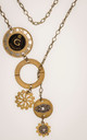 Dual tone steampunk lariat that doubles as a choker