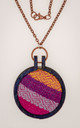 Colorful fabric pendants to accent your style