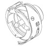 ROTARY HOOK ASSEMBLY WITH ADAPTER RING. S95M