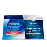 Crest 3DWhitestrips Glamorous White + Professional 1-Hour Express Value Pack