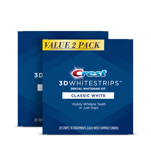 Crest 3DWhitestrips Classic White Twin Pack