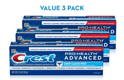 Crest Pro-Health Advanced Deep Clean Mint Toothpaste Pack 3