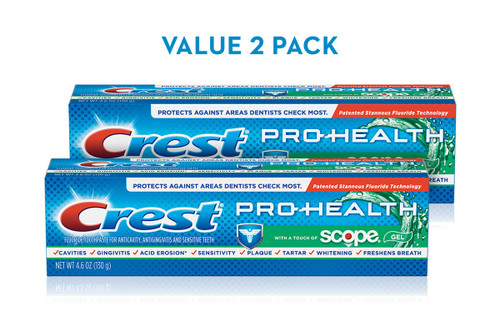 Crest Pro-Health Toothpaste with a Touch of Scope Pack 2