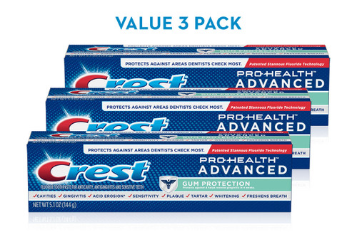 Crest Pro-Health Advanced Gum Protection Toothpaste Pack-3