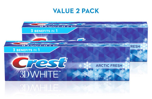 Crest 3D White Arctic Fresh Toothpaste Pack 2