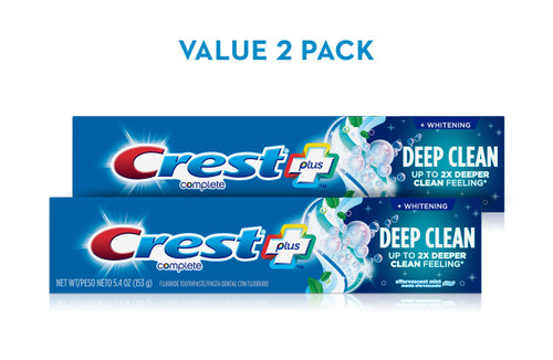 Crest Complete Whitening Plus Deep Clean Toothpaste Pack 2