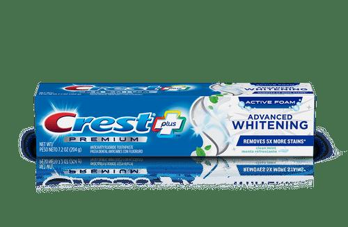 Crest Premium Plus Advanced Whitening Toothpaste,Teeth Whitening, Clean Mint flavor