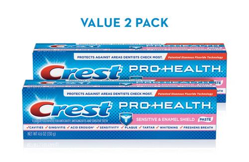 Crest Pro-Health Sensitive & Enamel Shield Toothpaste Pack 2