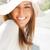 Crest 3D Whitestrips Smiling Girl in White Hat | Crest White Smile