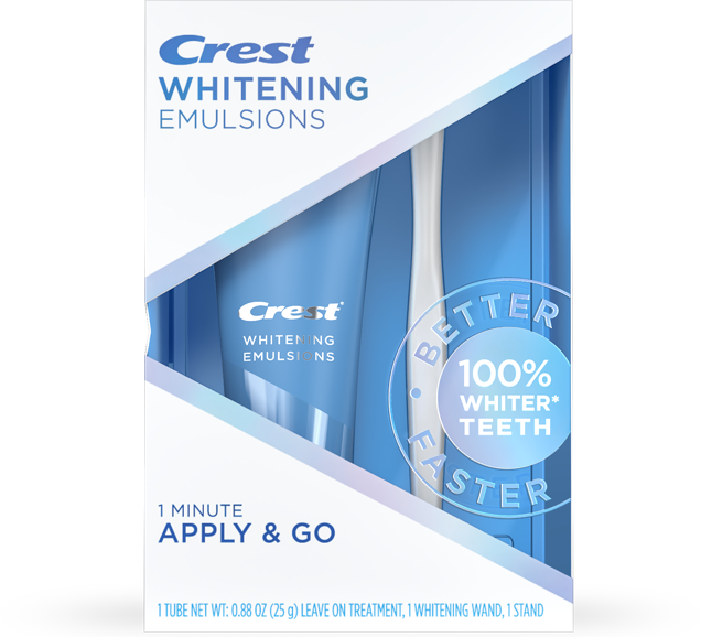 CREST WHITENING EMULSIONS WITH WAND APPLICATOR