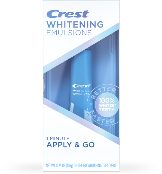 CREST WHITENING EMULSIONS WITH BUILT-IN APPLICATOR
