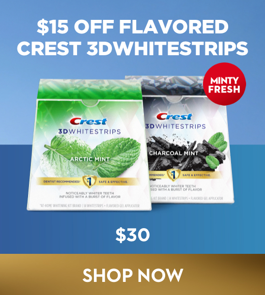 Get $15 Off Flavored Crest 3D Whitestrips