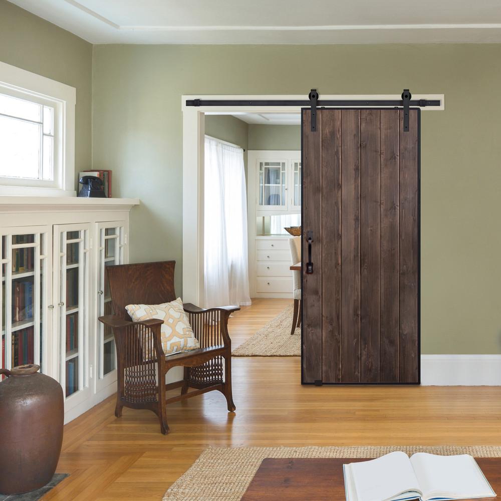 Vertical Iron Plank Barn Door