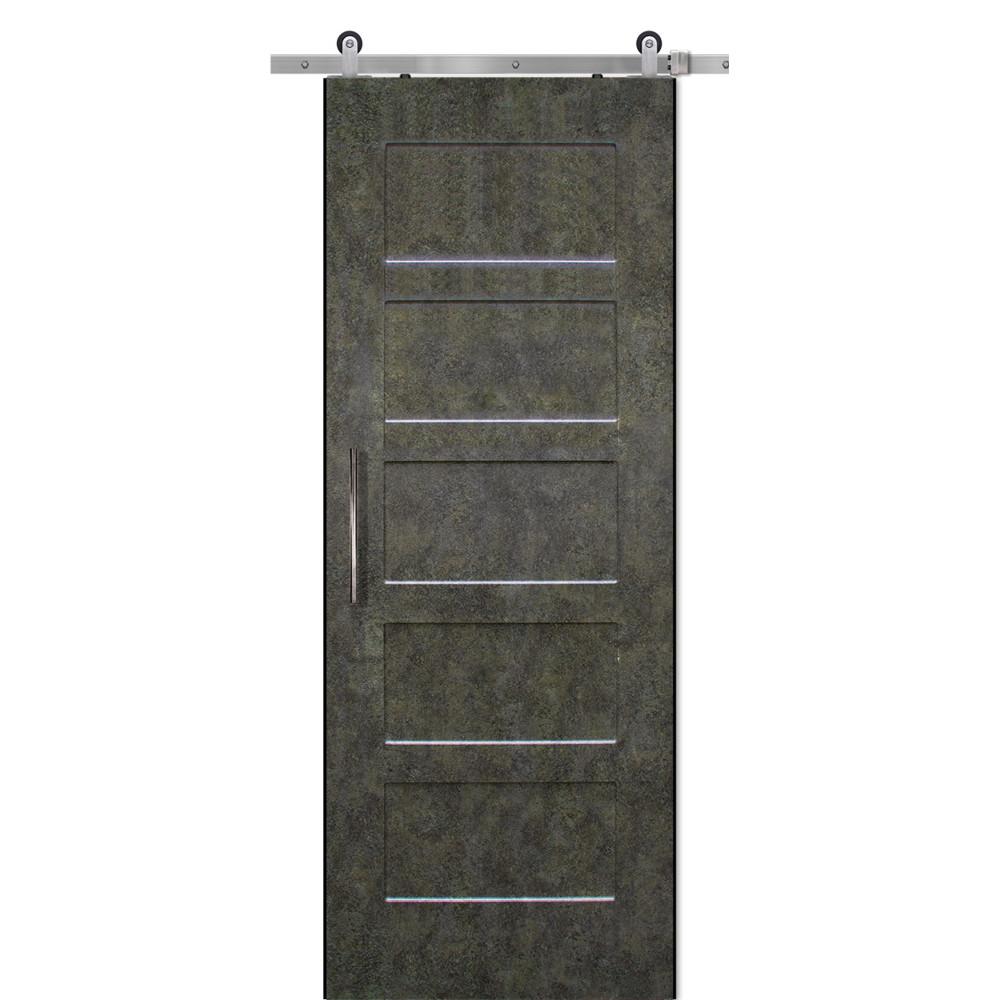 5 panel shaker with Alpine Gemstone Finish