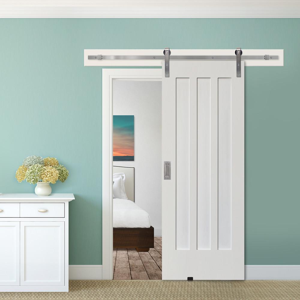 Craftsman 3 Panel Barn Door with hardware
