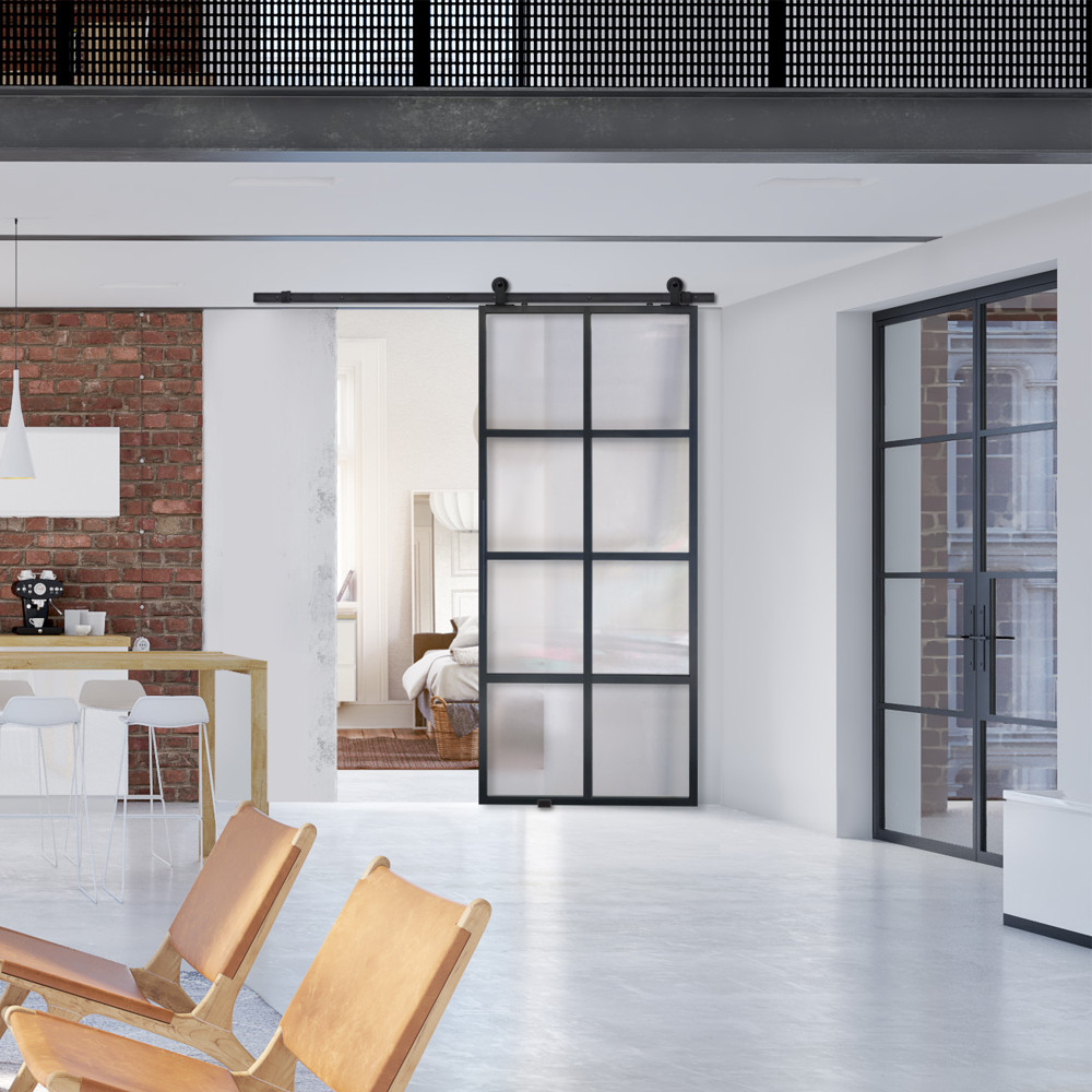 Modern French 8 Lite Barn Door