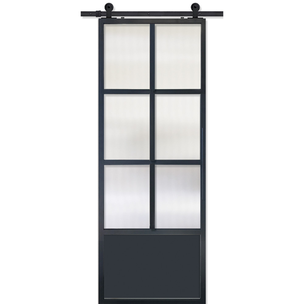 Modern French 6 Lite Door with Cloud glass
