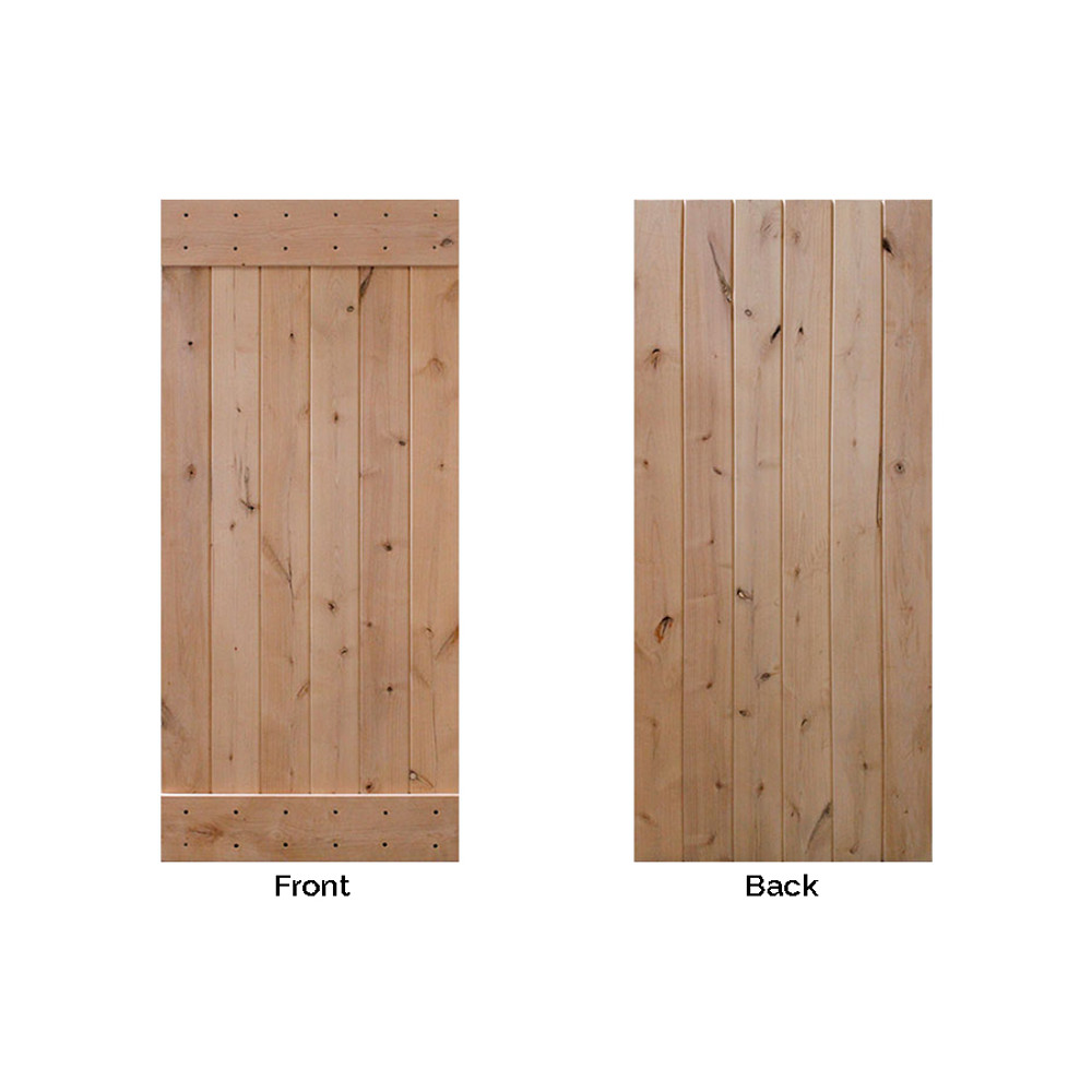 barncraft plank barn door front and back