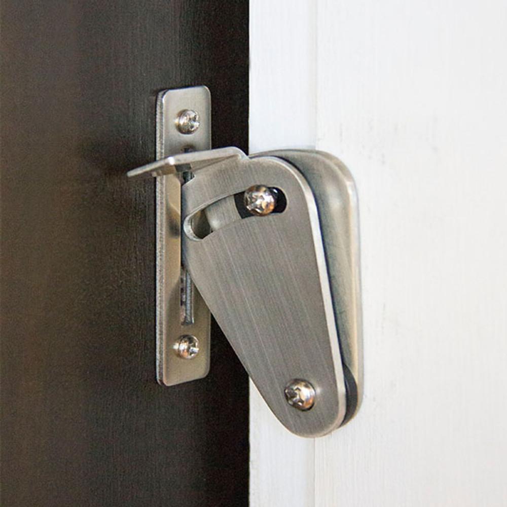 Stainless steel barn door privacy lock
