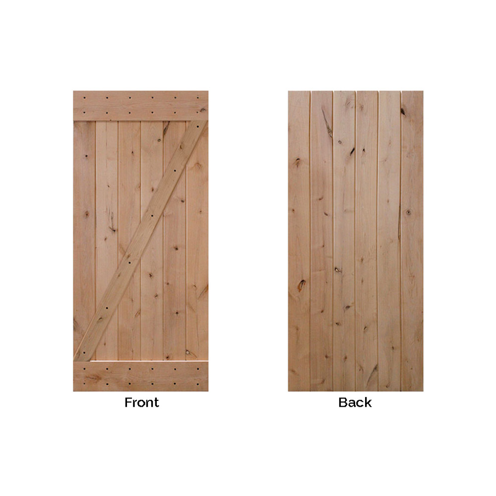 BarnCraft Z Barn Door Front Back