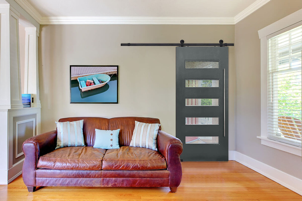 Door & Hardware Spotlight: Beverly Modern Barn Door + Metro Barn Door Pull Handle