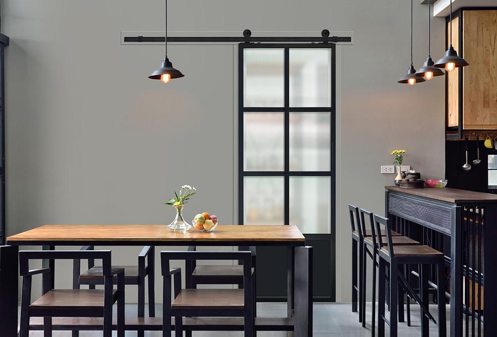 Door & Hardware Spotlight: Modern French 6 Lite Barn Door+ Gage Hardware Kit