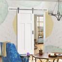 Craftsman MDF barn door in White Primer Finish