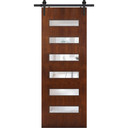 Beverly Modern Barn Door with canyon brown finish
