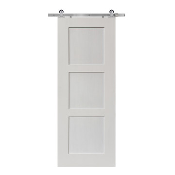 Shaker offered in primed white so you can paint your door any color you'd like.