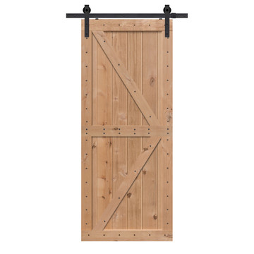 Unfinished Two Piece Double Z Barn Door