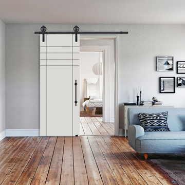 Fleetwood MDF Barn Door In white prime