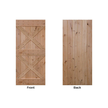 BarnCraft Double X  barn door front and back