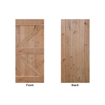double z barn door back and front