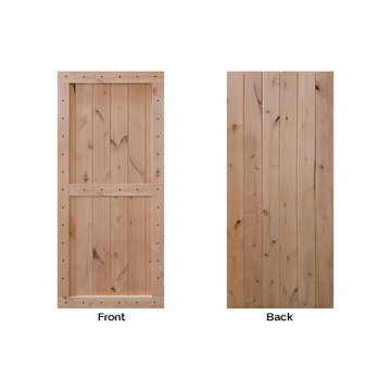 two panel barn door front and back