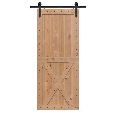 Two Panel X BarnWood Two Piece barn door