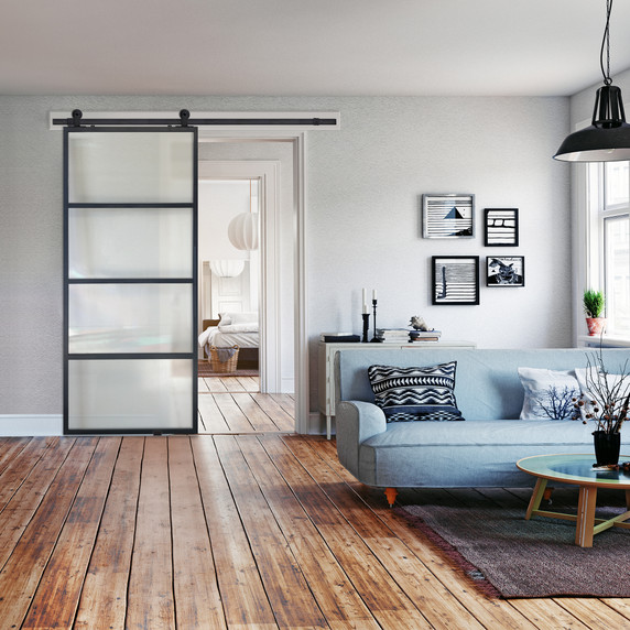 Modern French Door with Cloud Glass