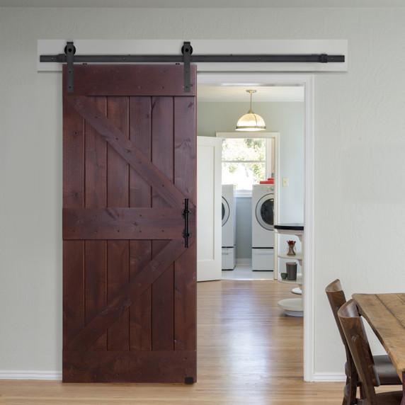 Reverse design barncraft double z barn door