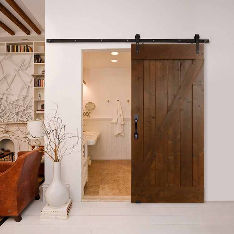 BarnCraft Z Barn Door in canyon brown