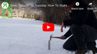 How to Stake a Tent in Frozen Ground - Tip Tuesday
