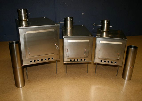 medium and large stove on the right